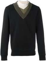Maison Margiela layered neck sweatshirt - men - Cotton - 48