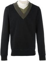 Maison Margiela layered neck sweatshirt