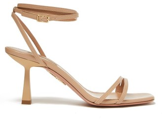 Aquazzura Isabel 75 Ankle-strap Leather Sandals - Womens - Nude