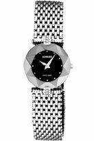 Jowissa Women's J5.228.M Facet Strass Stainless Steel Mesh Bracelet Black Dial Watch
