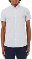 Topman Men's Slim Fit Grid Print Shirt
