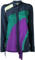 Versace colour block shirt