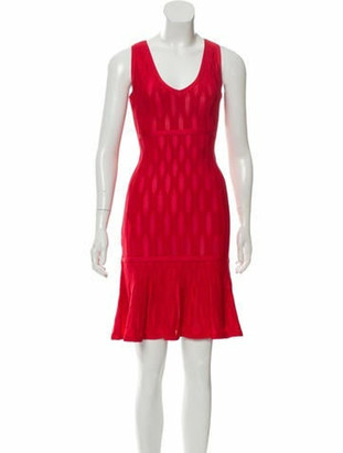 Herve Leger 2018 Mini Bandage Dress w/ Tags Red