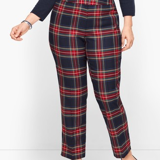 Talbots Plus Size Hampshire Ankle Pants - Wishful Plaid