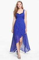 Adrianna Papell Embellished Sheer Overlay Dress