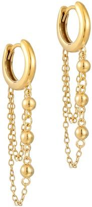 Seol + Gold 18Ct Gold Vermeil Bead Chain Hoops