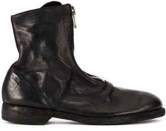 Guidi soft zip front ankle boots