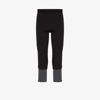 Norrøna Black Lyngen three-quarter stretch leggings