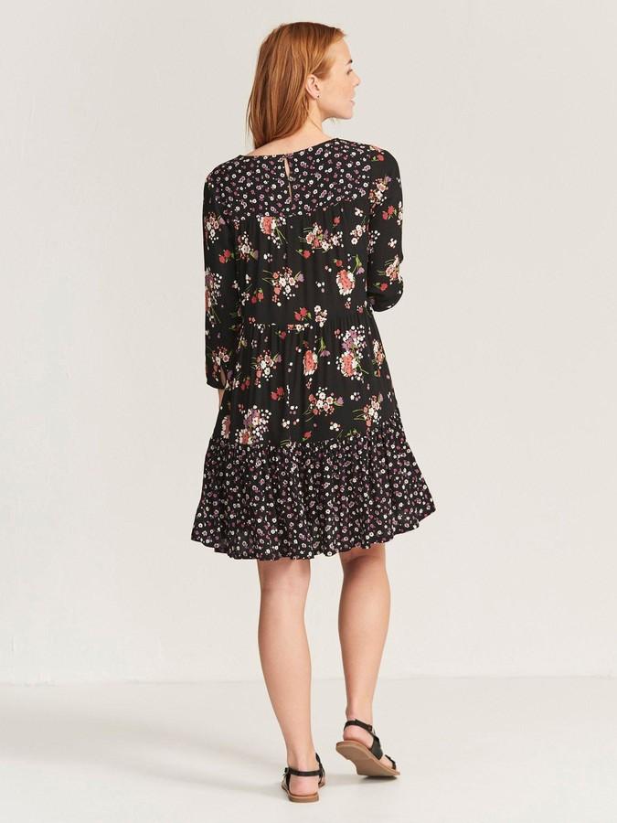 Fat Face Emilie Spring Bouquet Dress - Black