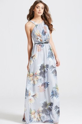 Little Mistress Floral Print Occasion Maxi Dress