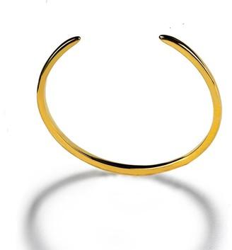 Sonia Hou SUCCESS Cuff Stackable Bracelet in 18K Gold Vermeil - Sterling Silver base