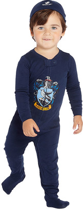 Intimo Footies P0201 - Harry Potter Navy Ravenclaw Footie Pajama & Beanie - Infant