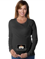 TeeStars - Bun In The Oven Cute Pregnancy Mom To Be Maternity Long Sleeve Shirt