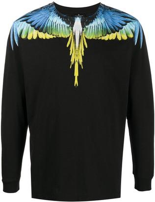 Marcelo Burlon County of Milan wings print long-sleeved T-shirt
