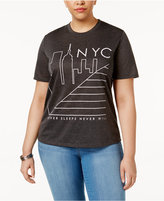 Mighty Fine Trendy Plus Size NYC Graphic T-Shirt