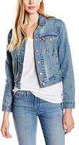 Levi's Women's AUTHENTIC TRUCKER Jacket, Blue (TRAVELING ROAD)