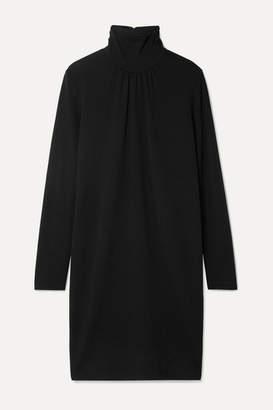 Max Mara Lotus Wool-crepe Turtleneck Dress - Black