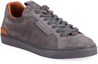 Ermenegildo Zegna Men's Suede Low-Top Sneakers