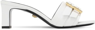 Versace 55mm Leather Sandals