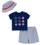 Little Me Infant Boy's Stars & Stripes T-Shirt, Shorts & Hat Set