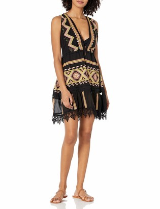 Ramy Brook Women's Kendyl Embroidered Sleeveless Mini Dress Coverup