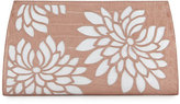 Nancy Gonzalez Floral Laser-Cut Crocodile Clutch Bag, Nude