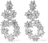 Kenneth Jay Lane Silver-plated Crystal Clip Earrings - one size