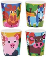 French Bull Farm Kids Juice Cups - Set of 4
