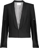 Halston Cutout stretch-cepe blazer