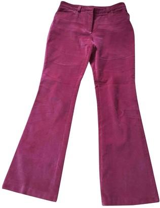 Paul & Joe Pink Velvet Trousers for Women
