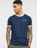Jack & Jones Originals ringer t-shirt-Navy