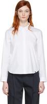 Jil Sander Navy White Poplin Shirt