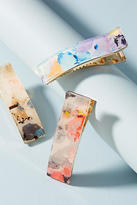 Anthropologie Watercolor Hair Clip Set