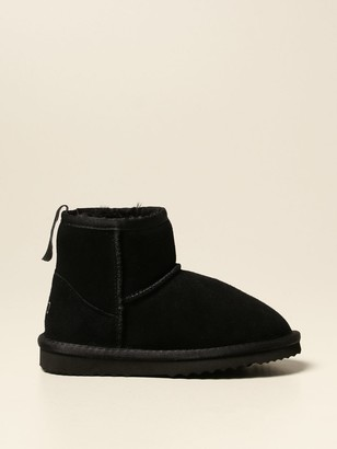 Douuod Ankle Boot In Synthetic Sheepskin With Star