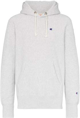 Champion logo embroidered hooded jumper