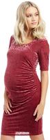 Motherhood Velveteen Burnout Maternity Dress