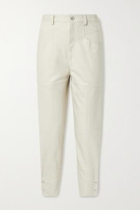 Isabel Marant Xiamao Leather Tapered Pants - Ivory