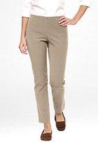 Classic Women's Plus Size Pre-hemmed UltraFit Side Zip No-waist Slim Leg Pants-Soft Sapphire Tennis Rackets