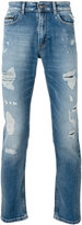 Calvin Klein Jeans distressed slim fit jeans - men - Cotton/Spandex/Elastane - 30