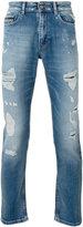 Calvin Klein Jeans distressed slim fit jeans