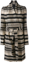 Gareth Pugh striped belted dress - women - Cotton/Linen/Flax/Viscose - 40