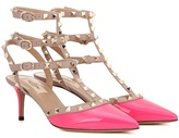 Valentino Rockstud Leather Kitten-heel Pumps