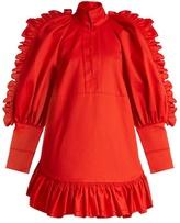 Ellery Kenickie ruffled cotton mini dress