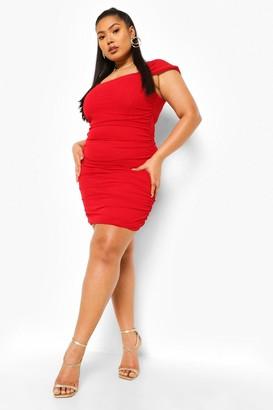 boohoo Plus Off The Shoulder Corset Mini Dress