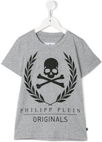 Philipp Plein skull print T-shirt - kids - Cotton - 4 yrs