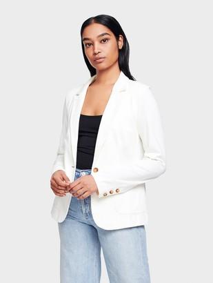 White + Warren Combed Cotton Patch Pocket Blazer
