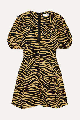 Faithfull The Brand Ilia Zebra-print Crepe Mini Dress - Zebra print