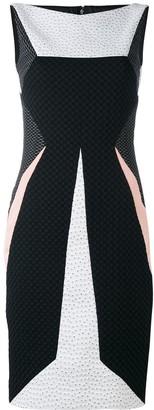 Talbot Runhof Patchwork Texture Dress