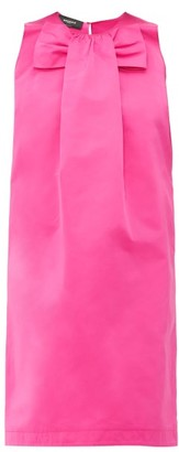 Rochas Piastra Radsmir Bow-front Satin Dress - Womens - Fuchsia
