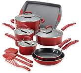 Rachael Ray Rachael RayTM Porcelain Nonstick 14-Piece Cookware Set in Gradient Red